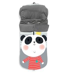 Universal Footmuff Watertight 46X105 Cms - Coral Fleece - Mod. Panda