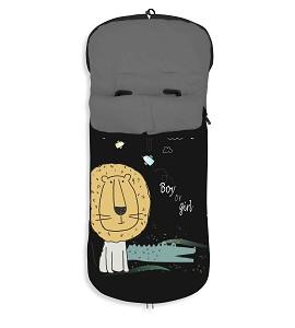 Universal Footmuff Watertight 46X105 Cms - Coral Fleece - Mod. Leon