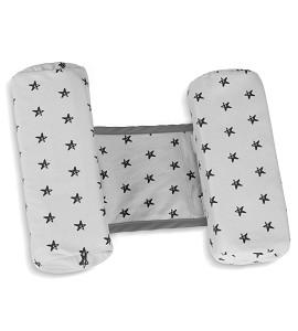 Pillow Anti-Roll Over - 26X22X10 - Cotton - Mod. Estrella - Gray