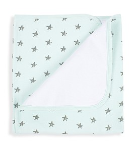 Don Algodón Receiving Blanket Love You Green
