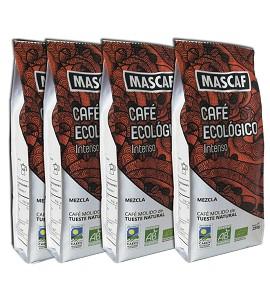 Café Molido Ecológico Intenso MASCAF - Tueste Natural - 4 x 250gr