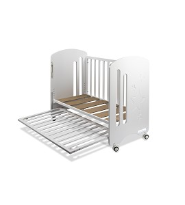 Cot Bed For Mattress 60X120 - Mod. New Star - White Color