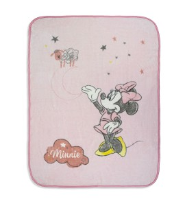 Manta Terciopelo Counting Sheep Minnie Pink