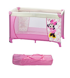 Travel Cot Bed 120X60 With Wheels - Minnie