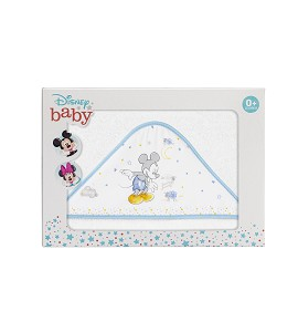 Bath Cape White and Blue Disney Counting Sheep Mickey