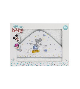 Bath Cape White and Grey Disney Counting Sheepp Mickey
