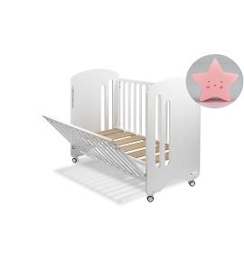 Cuna Monet Premium con Lámpara Quitamiedos Estrella Rosa
