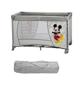Cuna Viaje 120X60 con Ruedas Mickey