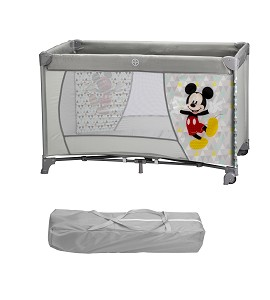 Travel Cot Bed 120X60 With Wheels - Mickey
