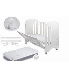 Lovely Premium Co-sleeping Cradle with mattess and dinosaur white night lamp gift