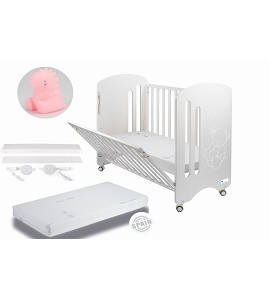 Lovely Premium Co-sleeping Cradle with mattess and dinosaur pink night lamp gift