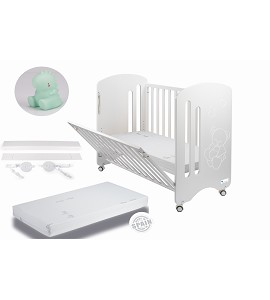 Lovely Premium Co-sleeping Cradle with mattess and dinosaur night lamp gift