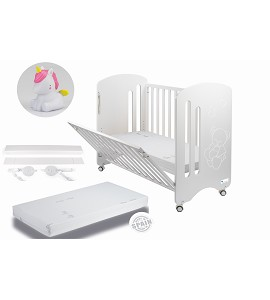 Lovely Premium Co-sleeping Cradle with mattess and white dinosaur night lamp gift