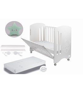 Lovely Premium Co-sleeping Cradle with mattess and blue star night lamp gift