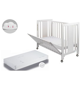 Moonet Premium Crib + Mattress + White Cloud Night Light