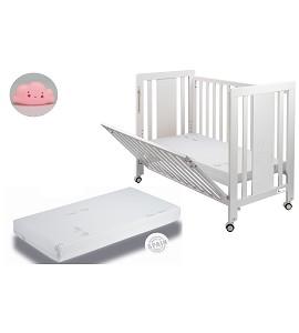 Moonet Premium Crib + Mattress + Pink Cloud Night Light