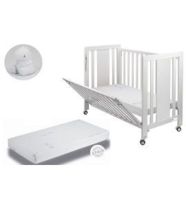 Moonet Premium Crib + Mattress + White Dinosaur Night Light