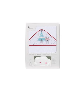 Bath Cape Tipi Bear White Red with GIFT White Cloud Night Lamp