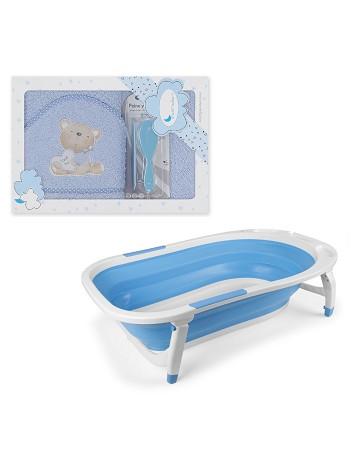 Bañera Plegable - Capa de Baño Love You con Peines Azul