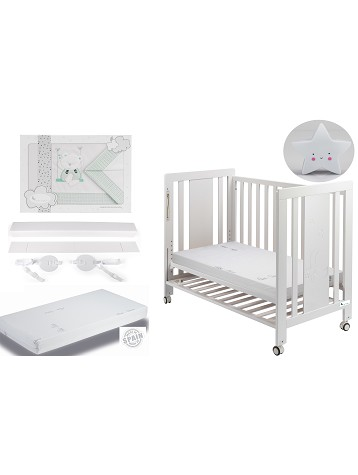 Moonet Premium Cradle Co-sleeping with mattress, Cradle Sheets Mint Swing and Star night lamp Gift
