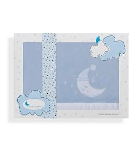 Sábanas Coche Coralina Luna Gorro Azul